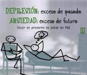 Depresión, estrés y presente.